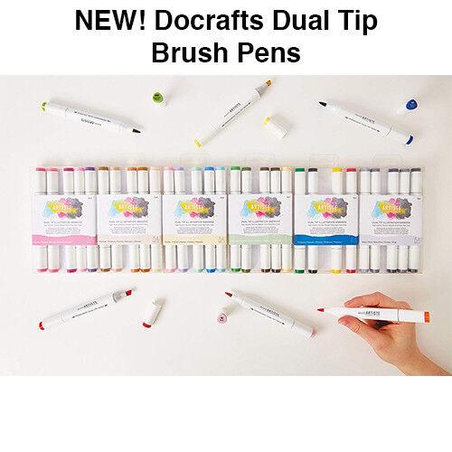 Docrafts artiste Dual Tip Brosse Stylos Ciseau Brosse Marqueurs Art Marker Pen Set