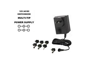 12V 2500MA AC//DC POWER SUPPLY 12 VOLT 2.5 AMP 2.5A 2500 MA WALL ADAPTER 240V