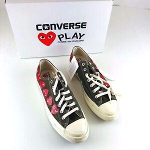 Comme-des-Garcons-Play-Converse-Chuck-Taylor-Canvas-Sneakers-Shoes-Men-10-NEW