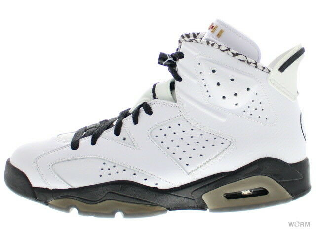 AIR JORDAN RETRO 6 PREMIUM  MOTOR SPORT  395866-101 white black 6 Size 9