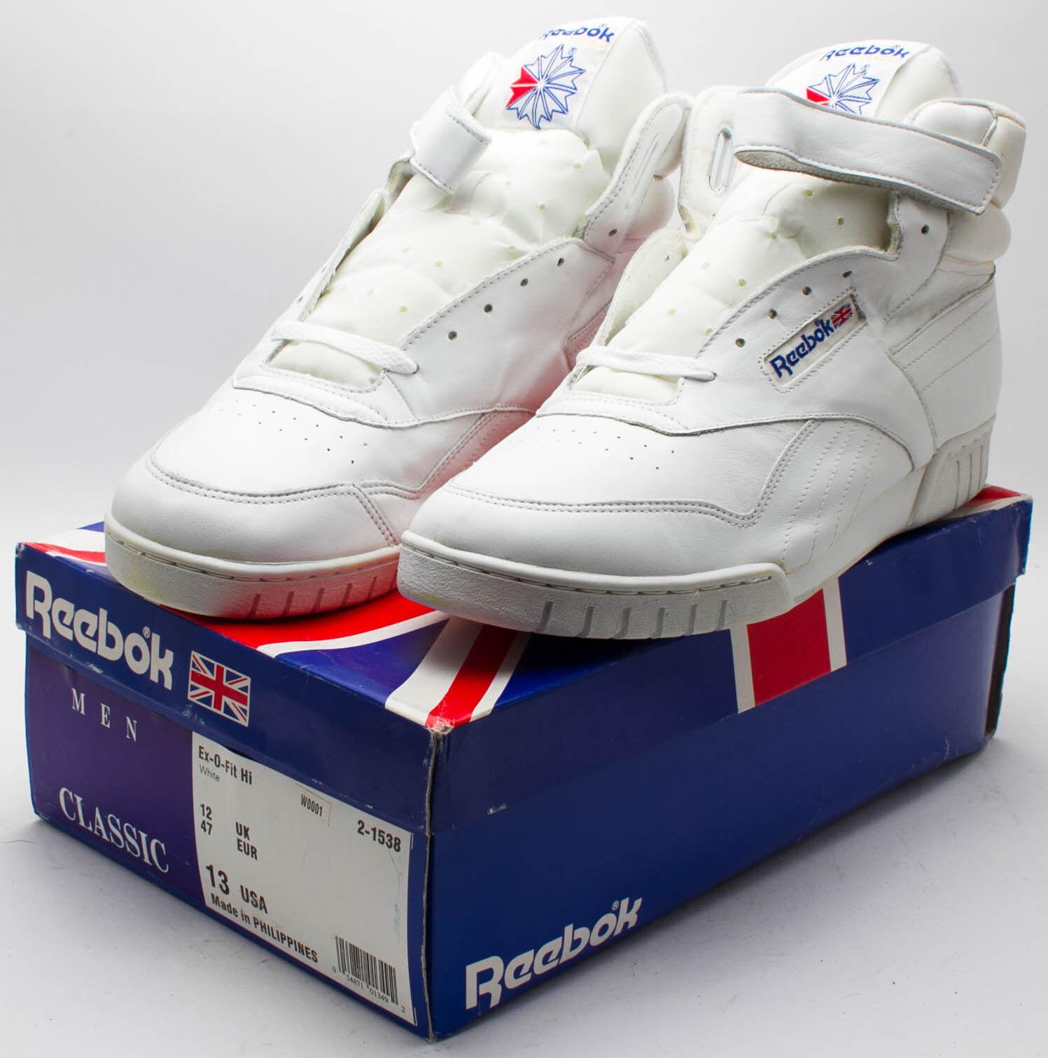 Reebok Herren Vintage 1998 weiß EX-O-FIT hohe Schuhe 2-1538 weiß 1998 Größe 13 de34e8