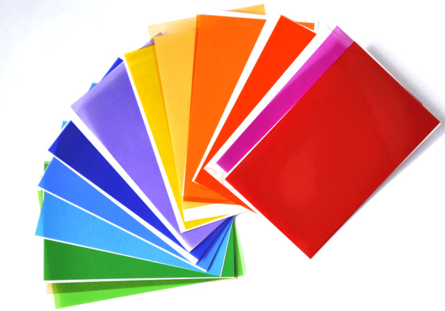 12 Colors Gel Filter Colour Correction Sheet for camera Flash Speedlite