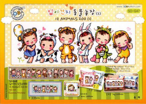 "SODA SO-G47 /""Chinese Zodiac 1/"" counted cross stitch pattern leaflet"