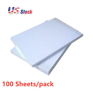 US-Stock-100pcs-A4-Dye-Sublimation-Heat-Press-Transfer-Paper-for-Heat-Printing