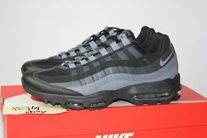 huge discount ceec7 82011 ... denmark image is loading nike air max 95 ultra essential triple black  86a54 167ef get nike nike air max 95 ultra essential trainers in grey 857910  ...