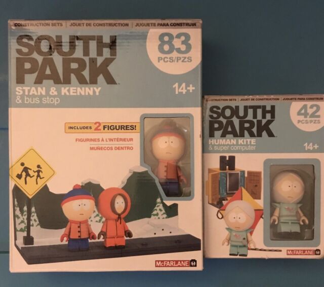 South Park.  Stan & Kenny And Bus ALSO. South Park Human Kite & Super Computer