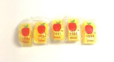 "Top Quality 1034 1/""x3//4/"" Blue Color Apple Brand 1000 Mini Zip Lock Baggies"