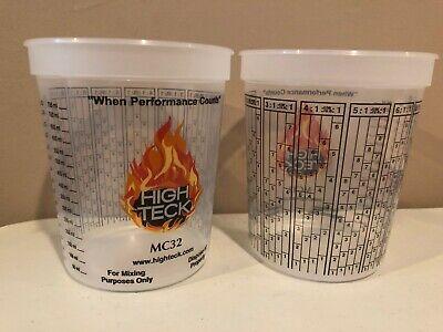3 10Pcs 600ml Plastic Paint Mixing Cups Mixing Pot Paint Mixing Calibrated Cup