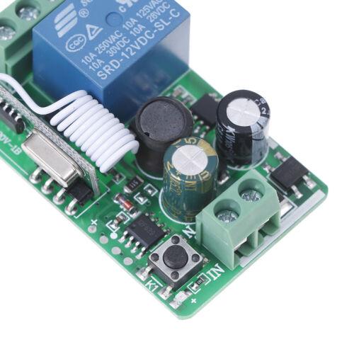 1-Channel AC 220V Wireless RF Remote Control Receiver Relay Switch 433MHz UE