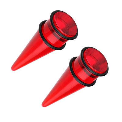 "Large Size Ear Taper Expander Plug 3//4/"" 19mm Black w// O Rings"