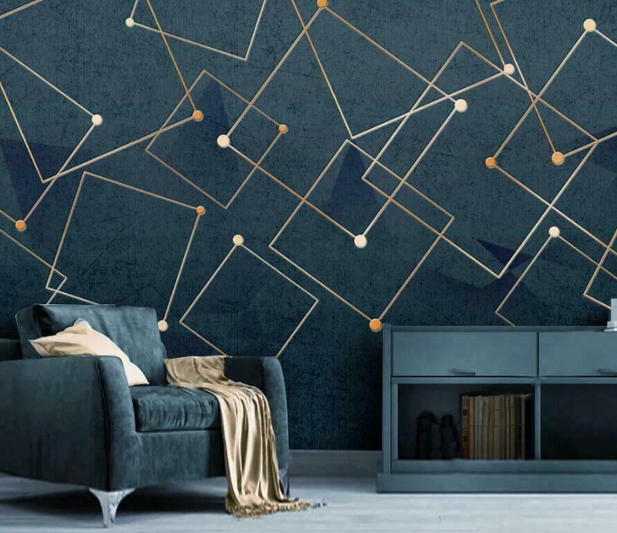 3D Square Dot Line I3113 Wallpaper Mural Sefl-adhesive Removable Sticker Wendy