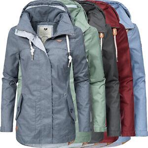 low priced 5e972 052f1 Details zu Ragwear leichte Damen Übergangs Outdoor Jacke Parka Windbreaker  Kapuze Like You