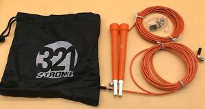 321 Strong Speed Jump Rope 10' Longueur Réglable En Plastique, Poignées, Fast Turning-afficher Le Titre D'origine Avec Une RéPutation De Longue Date