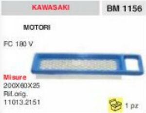 11013.2151 FILTRE À AIR MOTEUR KAWASAKI FC180V FC 180 V 200x60x25 YIO1IkZz-07190942-625605631