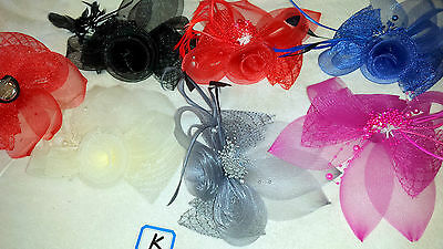 Joblot 12 pcs Feather /& Sinamay Hair Fascinator on Hairclip NEW wholesale Lot I