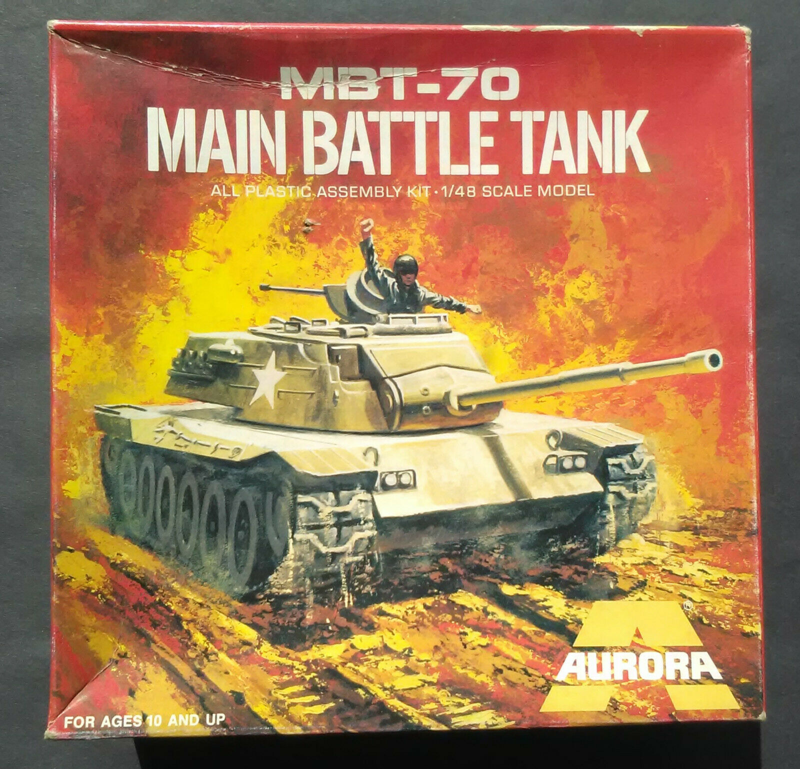 Vintage (1972) 1 48 (1 4 scale) Aurora U.S. U.S. U.S. MBT-70 Main Battle Tank model kit 9f7