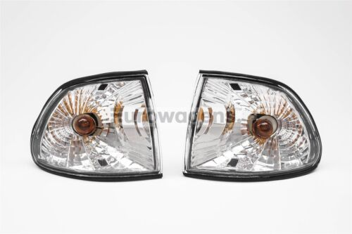 BMW 7 Series E38 95-98 Crystal Clear Front Indicators Repeaters Pair Set