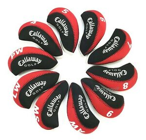 10x-Schwarz-amp-Rot-Neopren-034-Callaway-Golf-034-Golf-Club-Iron-Covers-Headcovers-UK-Lager