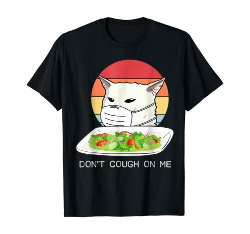 Yelling Cat Meme Strength Protect Health Vintage Funny Black T-shirt S-6XL