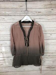 KAREN-MILLEN-Silk-Top-Size-UK12-Great-Condition-Women-s