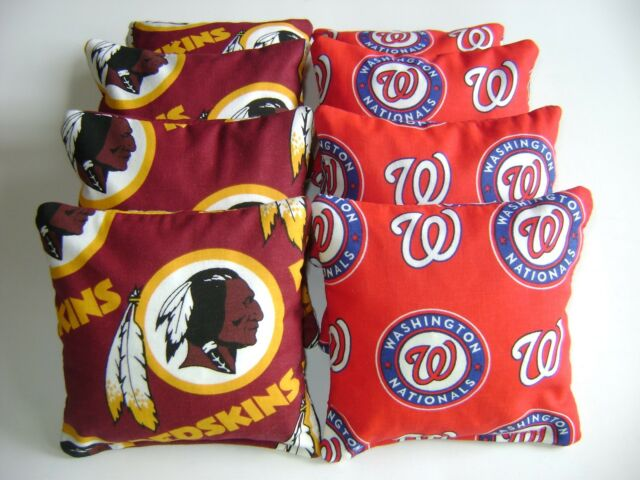 Surprising Washington Nationals Redskins Cornhole Bean Bags 8 Top Quality Toss Game Uwap Interior Chair Design Uwaporg