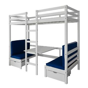 Cabin Bed Bunk Bed Max In White Kids Bed Childrens Bunk Ebay