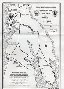 Vintage 1955 Mesa Verde National Park (Colorado) Travel Map | eBay on