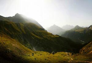 144x100in Photo Papier-peint Mure Mural Suisse Mountains Décoration Vert Express Couleur Rapide