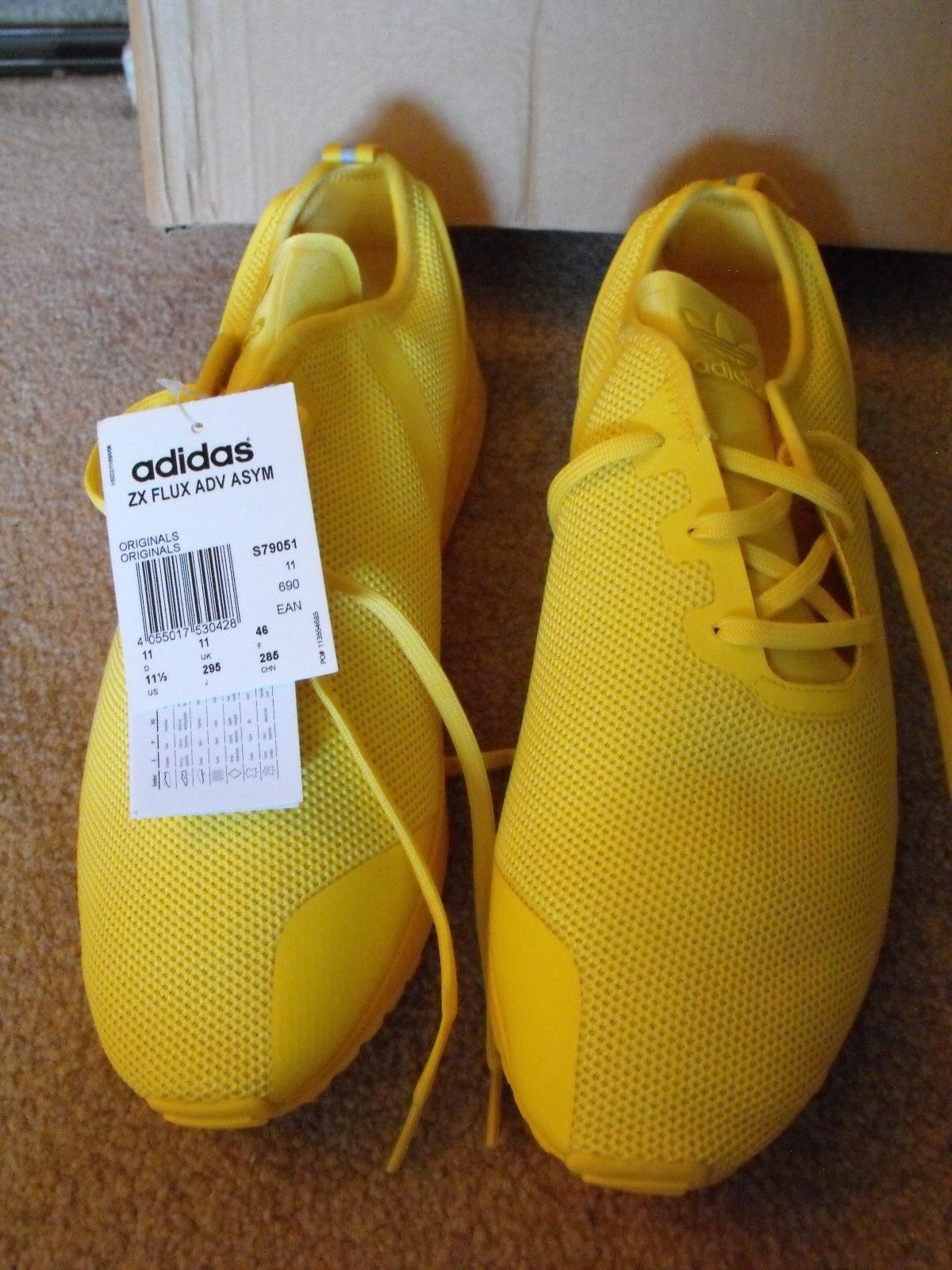 RARE  NIB Adidas ZX Flux Yellow shoes shoes shoes Size US 12 9bd274