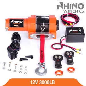 Treuil-electriques-12v-Synthetique-Recuperation-4x4-Bateau-1360kg-Winch-RHINO
