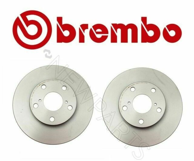 Pair Set of 2 Front Coat Vented 275mm Disc Brake Rotors Brembo for Toyota Lexus
