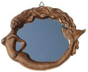 Nautical Wall Mirror cast iron vintage antique rep mermaid wall mirror nautical beach