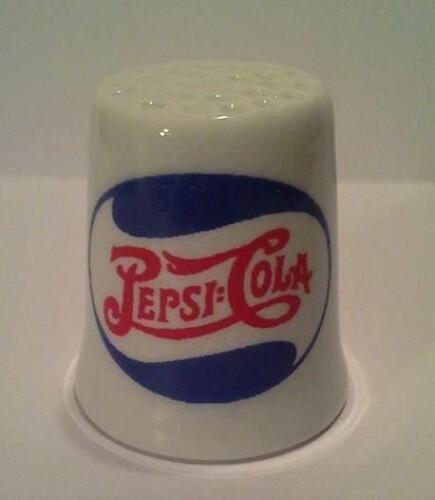 Super Nice Pepsi Cola Double Dot Collectible Porcelain Thimble