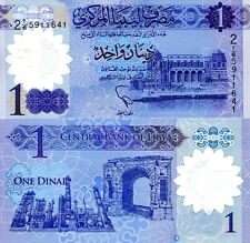 LIBYA 1 Dinar Banknote World Paper Money UNC Currency Pick p71 Gaddafi Bill