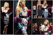 =ARTISTIC= LANVIN $5290 Runway Blue Floral Print Silk Cocktail Party Dress US2