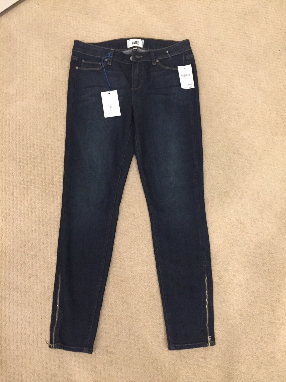 PAIGE DENIM   VERDUGO  ANKLE ZIPSKINNY STRETCH JEANS  Sz 29   NEW