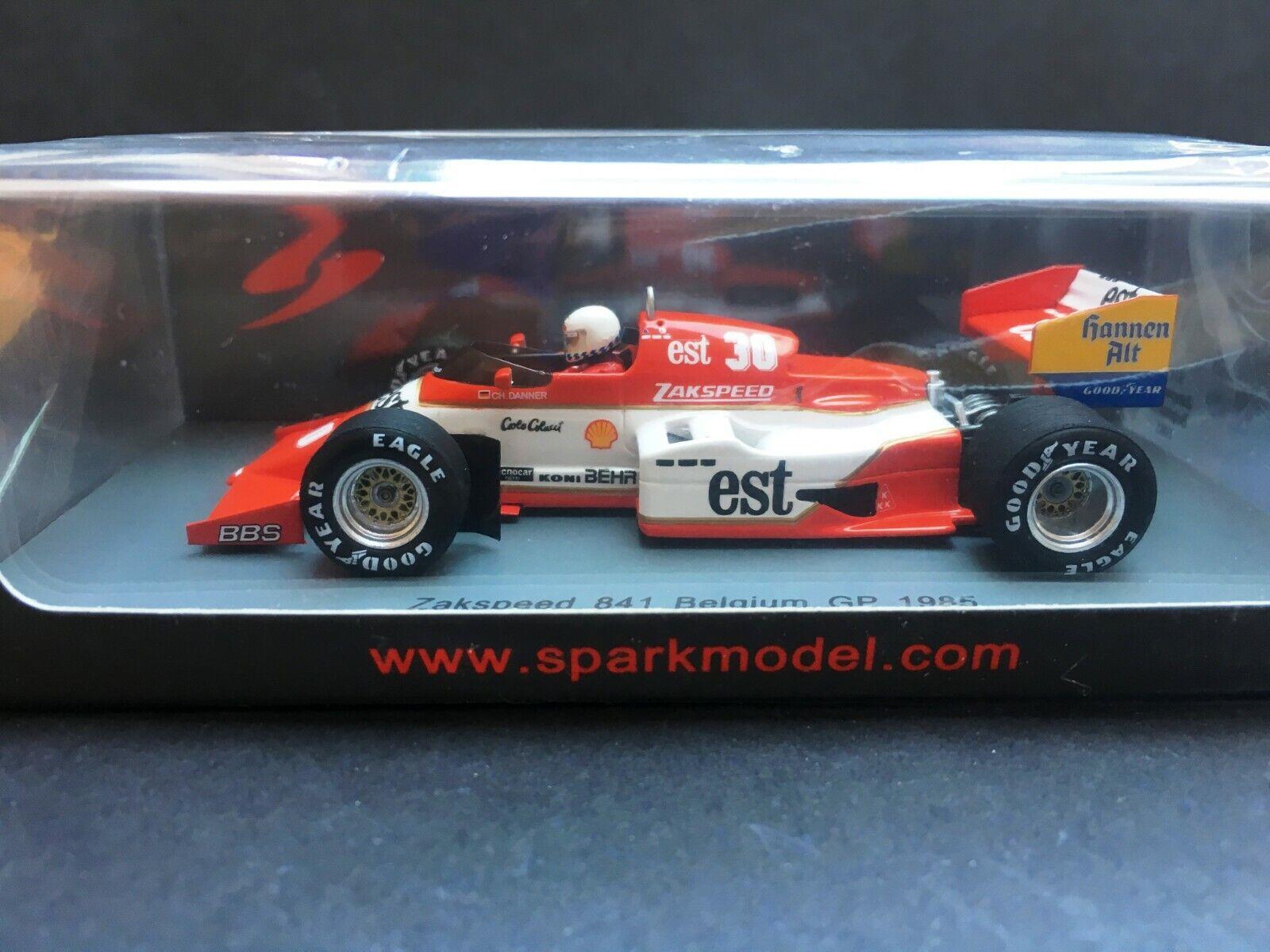 a la venta Spark - Christian Danner - Zakspeed Zakspeed Zakspeed - 841 - Belgium GP - 1 43 - 1985  online al mejor precio