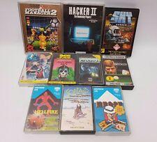 Sinclair ZX Spectrum Game Bundle Lot 48k/128k Hellfire Sky Runner Hacker II #6