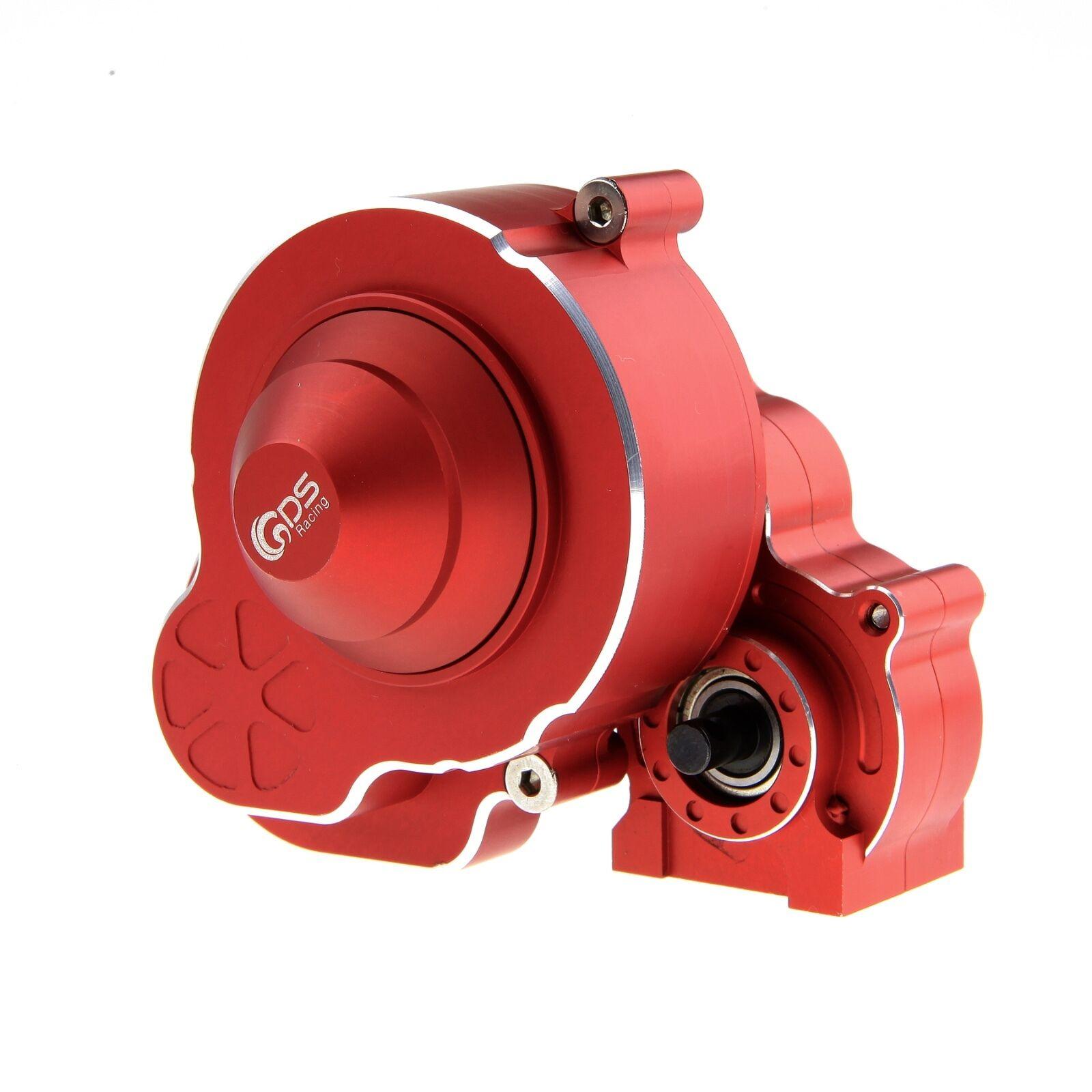 Caja de cambios de aleación de carreras GDS con conjunto de engranajes Rojo Para Axial SCX10 Ⅱ