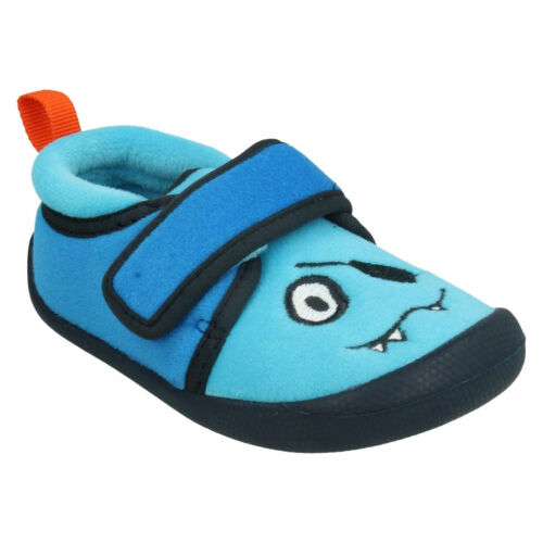BOYS TODDLER CLARKS SHILO RISE FST HOOK /& LOOP WINTER HOUSE SLIPPERS SHOES SIZE