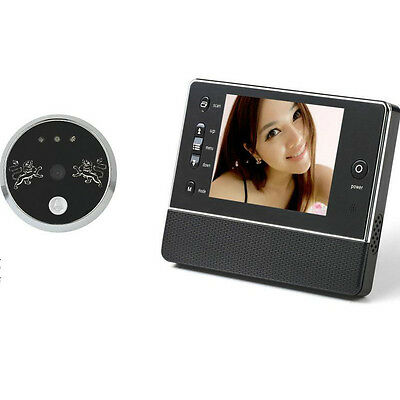 "3.5"" Door Doorbell Peephole Viewer Camera DVR Night Vision Wide Lens 3-Time-ZOOM"