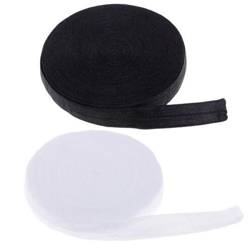 2 Stücke 10,9 Yards Baumwolle Gummiband Nähband 0,59 Zoll Breite