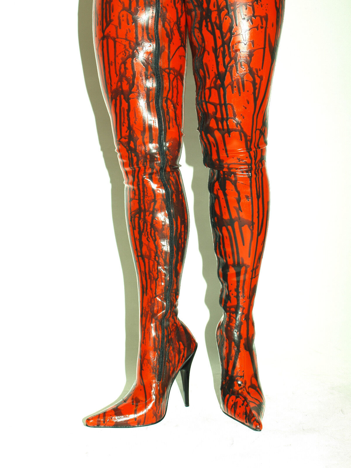 LATEX RUBBER HIGH BOOTS SIZE 6-16 HEELS-5,5' - PRODUCER BOLINGIER POLAND