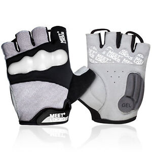 MTB Bike Glove Half Finger Cycling Glove with Gel Pad with TPU Fluorescent Shell