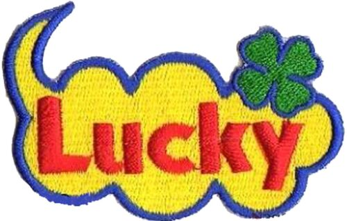 Patche transfert écusson thermocollant Lucky patch Chance Luck brodé