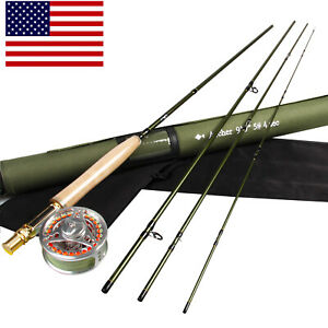 9-039-5WT-Fly-Fishing-Kit-Carbon-Fiber-Fast-Action-Fly-Rod-Fly-Line-Fly-Reel-Combo