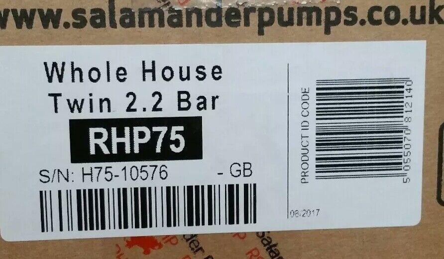 Salamander Pompe maison tout entière Twin RHP75 2.2 bar