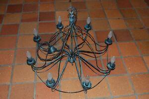 Kronleuchter Schwarz Metall ~ Kronleuchter schwarz metall flammig max watt ebay