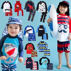 eedd38b73c Vaenait Baby Toddler UPF+50 Kids UV Rashguard Swimming set