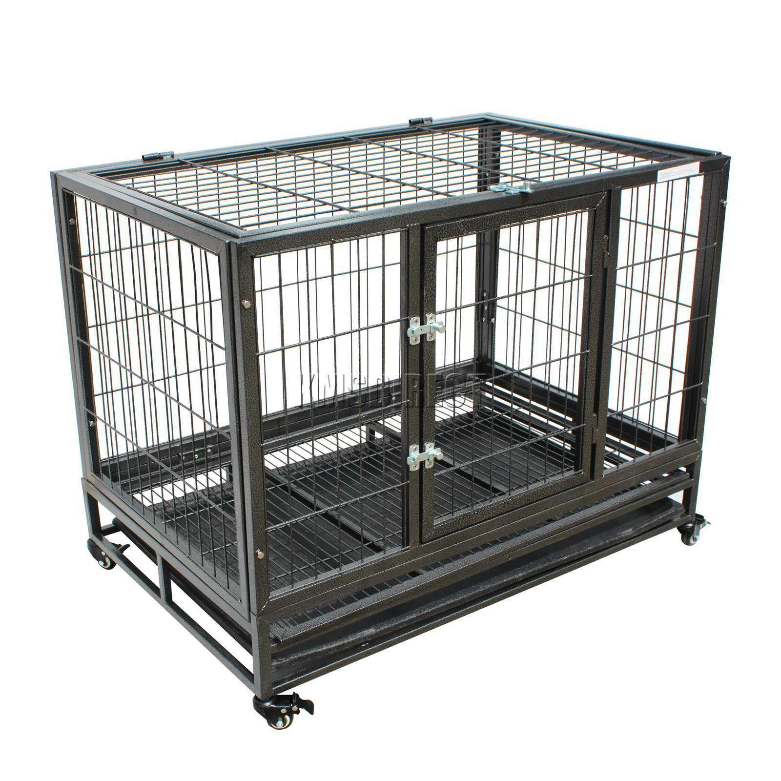 RIPARO Heavy Duty Pet Dog Puppy formazione Cage gabbia recinto in metallo con ruote